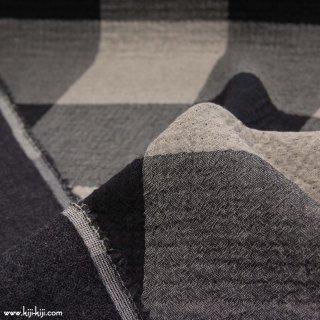 【cotton wool】cotton wool big check|ふんわりコットン&ウールガーゼ|ブラック|