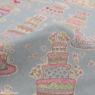【cotton linen】HAPPY BIRTHDAY !|コットンリネンキャンバス|カワグチミヤコデザイン|ミズイロ|<img class='new_mark_img2' src='https://img.shop-pro.jp/img/new/icons5.gif' style='border:none;display:inline;margin:0px;padding:0px;width:auto;' />