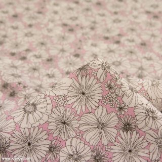 【cotton】line drawing flowers|ラインドローイングフラワーズ|コットンシーチング|花柄|ピンク|<img class='new_mark_img2' src='https://img.shop-pro.jp/img/new/icons5.gif' style='border:none;display:inline;margin:0px;padding:0px;width:auto;' />
