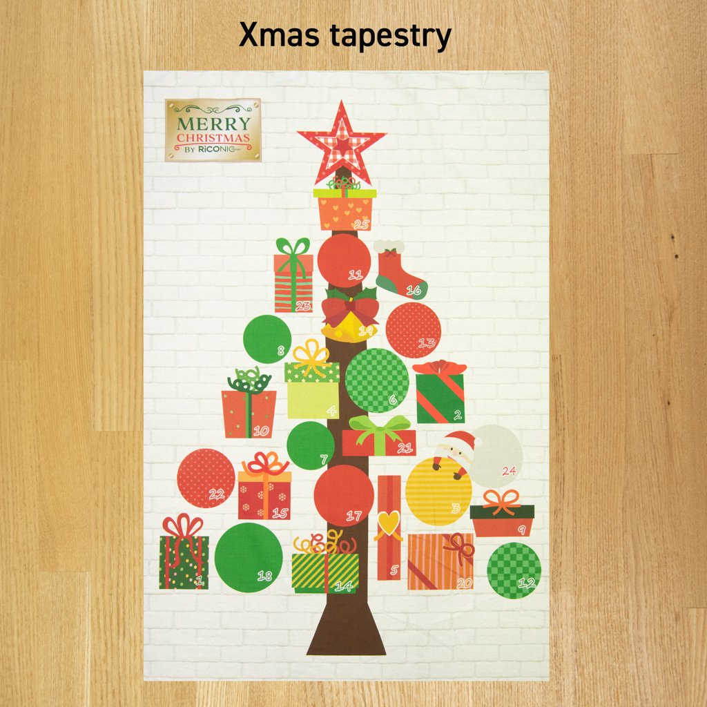 【Xmas タペストリー】25のXmas present|Christmas tree|クリスマスタペストリー|アドベントカレンダー|<img class='new_mark_img2' src='https://img.shop-pro.jp/img/new/icons5.gif' style='border:none;display:inline;margin:0px;padding:0px;width:auto;' />
