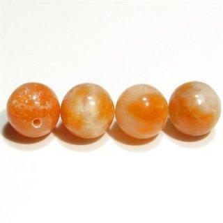 オレンジカルサイト ラウンド10mm 【1個】 《心の弱さを補い意志を強化する石》