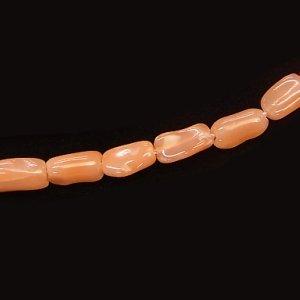 天然ピンクオレンジ コーラル 6X2〜3mm【4個】