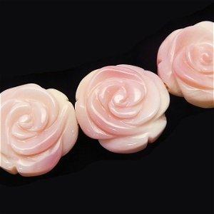 クィーンコンクシェル(AAA)薔薇彫刻 14X9mm 【1個】