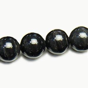 《高品質》 ブラックタイガーアイ(AAA-) ラウンド6mm 【1個】 《困難を打破し目標達成する石》