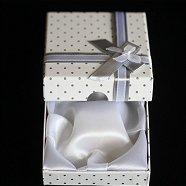 上質ブレスレットケース(リボン付)ホワイト