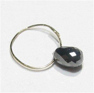 《宝石質》ブラック ダイヤモンド(AAA) ドロップ 3-3.5X2-3mm 天然ダイヤ 【1個】