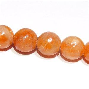 オレンジカルサイト (AA+) ラウンド8mm 【1個】 《心の弱さを補い意志を強化する石》