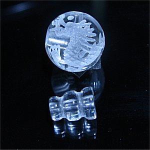 念珠用 親玉ボサ(皇帝龍彫刻入り水晶)10mm 【1組】