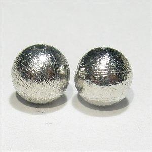 隕石ギベオン メテオライト 6mm シルバー色【1個】