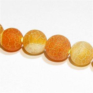 フロスト オレンジアゲート(めのう) ラウンド6mm【1個】