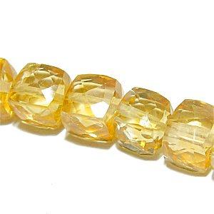 《宝石質》シトリン(AAA)キューブカット 4.5-6mm 【1個】