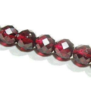 《宝石質》ガーネット(AAA) 64面カット 4mm シャンデリア 【1個】