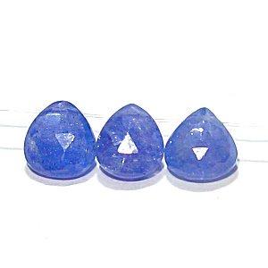 《宝石質》タンザナイト(AA++) マロンカット(M) 7.5〜8X6.7〜8mm 【1個】