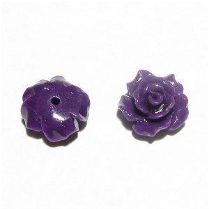 コーラル(珊瑚) 薔薇の花 彫刻 10mm パープル【1個】
