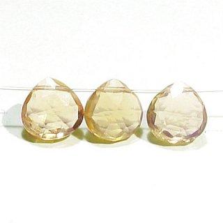 《宝石質》ビアクォーツ (AAA) マロン ブリオレットカット 6X6X3-4mm【2個】