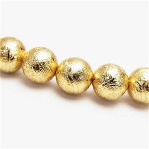 隕石ギベオン メテオライト(ムオニナルスタ)8mm ゴールド色【1個】