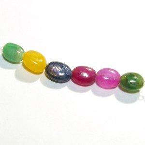 《宝石質》 サファイア、エメラルド、ルビー (AA++) オーバル 6-7X4-5mm 【6個セット】