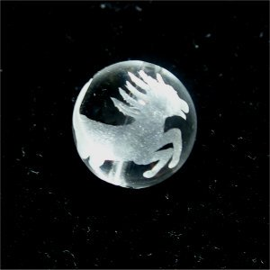 《干支縁起物》水晶彫刻ビーズ『うま(午年)』素彫り10mm 【1個】 《商売繁盛・合格祈願》