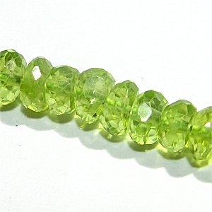 《宝石質》 ペリドット (AAA-) ボタンカット 4-4.5X2-3mm 【1個】