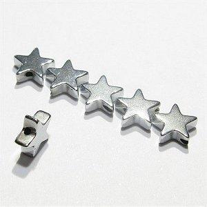ヘマタイト スター星(★)シルバー 4X2mm 【4個】 《身代わりの石》