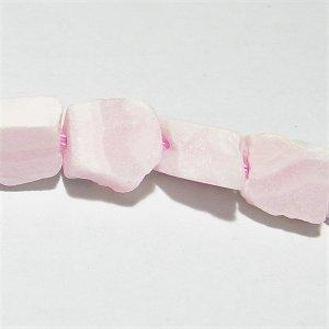 ピンクカルサイト (ペルー産)マンガンカルサイト ラフロックタンブル 5-9X3-5mm 【1個】 《すべての愛情表現を豊かにする石》