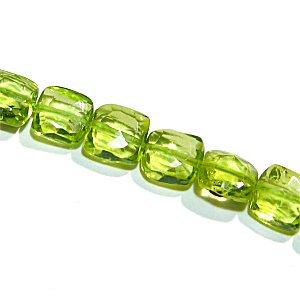 《宝石質》 ペリドット (AAA-) スクエアカット 4.5-5X2.5-3.5mm 【1個】 《前向きに生きられるようサポートする石》