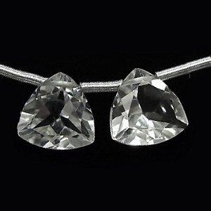 《宝石質》 水晶 クリスタル(AAA)トライアングルファセットカット10X10X5mm 【1個】 《すべてを浄化し活性化する石》