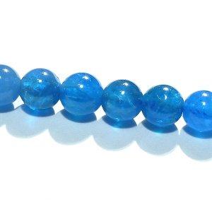 ブルーアパタイト (AA++) ラウンド6mm 【1個】 《やる気を増進する石》