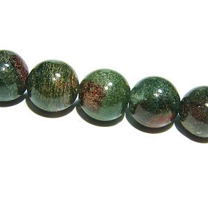 グリーン ガーデンクォーツ 庭園水晶(順風満帆タイプ) ラウンド8mm 【1個】 《財運の石》