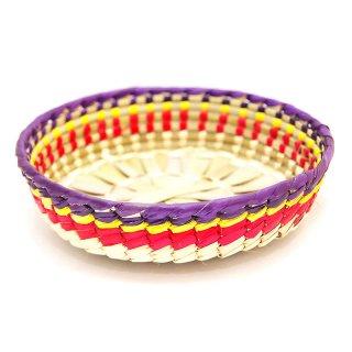 メキシコ手作りトルティーヤ籠 - パルマカゴ(Artesanías de palma)