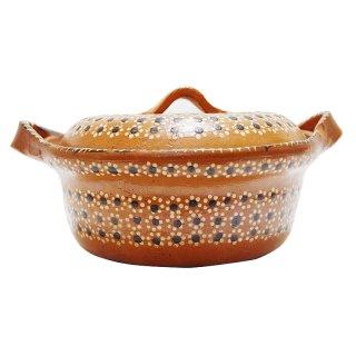 メキシコ工芸品 素焼き土鍋(トナラ焼)