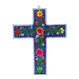 メキシコ工芸品 十字架オブジェ