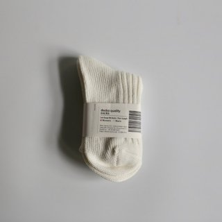 decka_Low Gauge Rib Socks_Women's(ホワイト)