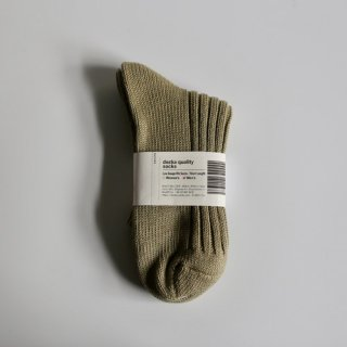 decka_Low Gauge Rib Socks_Men's(カーキ)