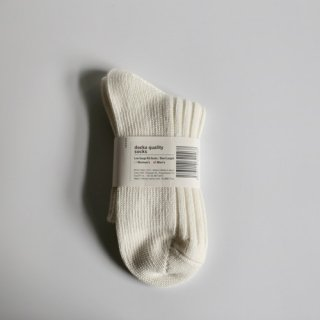 decka_Low Gauge Rib Socks_Men's(ホワイト)
