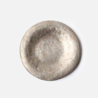 田中 義久 _ 丸皿 ( 銅・錫引き)