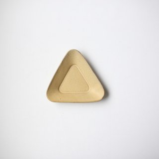 3RD CERAMICS_おつまみ皿(黄:T型)