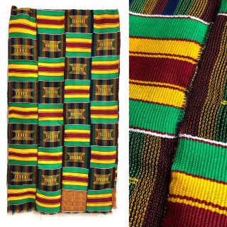 Made in Ghana 手織り エクストラワイド ハンドメイド アフリカ ケンテ スカーフ テーブルクロス インテリア Africa Kente handmade