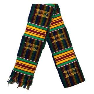 Made in Ghana 手織り 織物 アフリカ ケンテ スカーフ 飾り インテリア 帯 Africa Kente