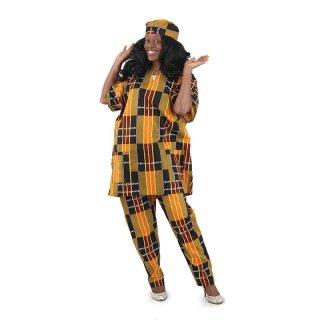 アフリカ ガーナ ケンテ ダシキ セットアップ & ハット Africa Kente Dashiki Ghana
