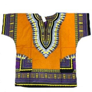 薄手素材 Mastard 男女兼用 ダシキ Dashiki 半袖シャツ アフリカ アフリカン 民族衣装  ヒッピー hiphop