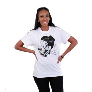 アフリカ 女性 子ども ホワイト Tシャツ ガーナ Africa T-Shirt Family Is A Forest Ghana Akan