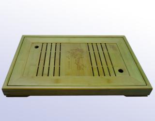天然竹製角型茶盤