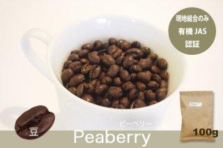 ピーベリー 100g 【豆のまま】  上品な甘み・苦み・酸味