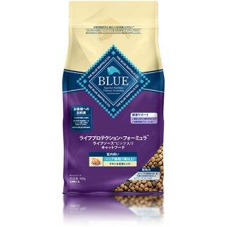 ブルーバッファロー シニア猫用(7歳以上)室内飼い チキン&玄米レシピ 400g