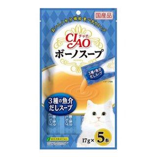 CIAO チャオ ボーノスープ 3種の魚介だしスープ 17g×5本~