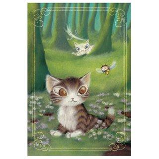 わちふぃーるど 猫のダヤン BABYダヤンポストカード 森のささやき