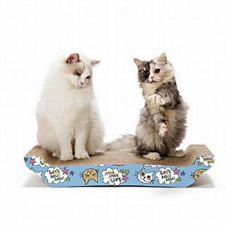 バリバリベッド 猫柄 ピンク&ブルー