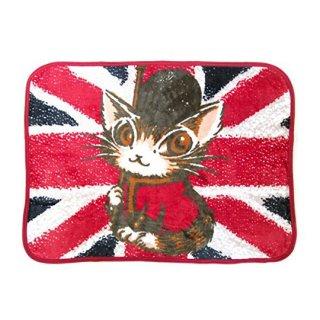わちふぃーるど 猫のダヤン フリースひざかけ ロンドンへ