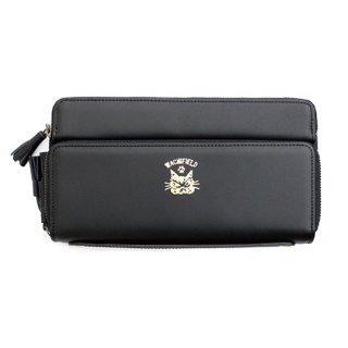 わちふぃーるど 猫のダヤン レザーバンク財布 腕組みダヤン・黒